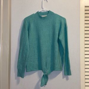 NWT Loft Snug-Fit Aqua Sweater, Size Medium